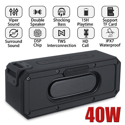 Portable Wireless bluetooth Speaker Amplifier Boombox Waterproof Subwoofer USB
