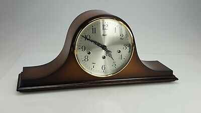 Mahogany Hermle triple Chime musical Mantle Clock in Working Order