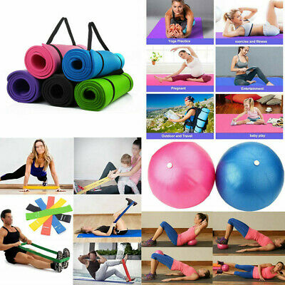 Extra Thick Non-slip Yoga Mat Pad Gym Pilates Ball Exercise Fitness Tool