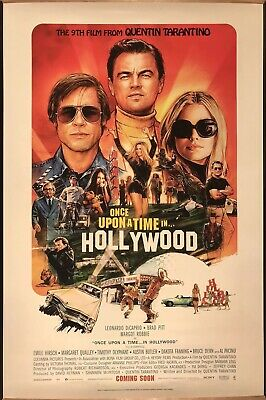 ONCE UPON A TIME IN HOLLYWOOD (TARANTINO) Original UK Cinema One Sheet Poster.