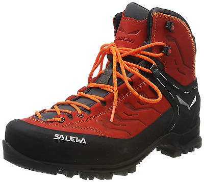 Salewa Men's Ms Rapace GTX High Rise Hiking Shoes, Red Bergrot/Holland 1581, UK