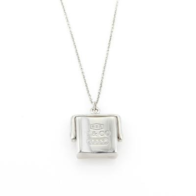 Tiffany & Co. 1837 Sterling Spinner Square Pendant & Chain Necklace
