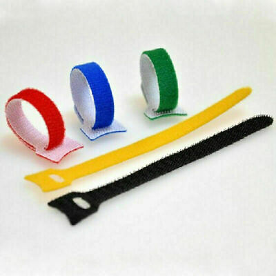Lot 15012mm Cable Ties Fastening Tape Strap Reusable Tie Hooks Loops Fast s U5A0