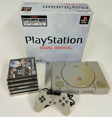 Sony PlayStation 1 Console Bundle with PS1 Games (Boxed) PAL