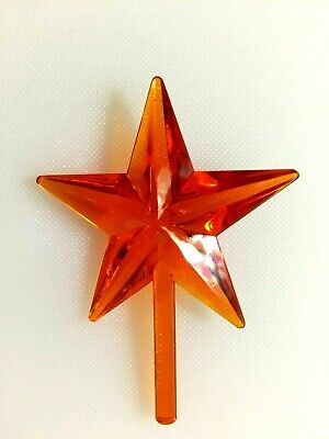 LARGE ORANGE STAR Ceramic Christmas Tree CLASSIC VINTAGE TOPPER