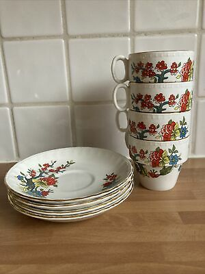 Brexton Picnic Set Spares - 2 China Cups and Saucers -VGC