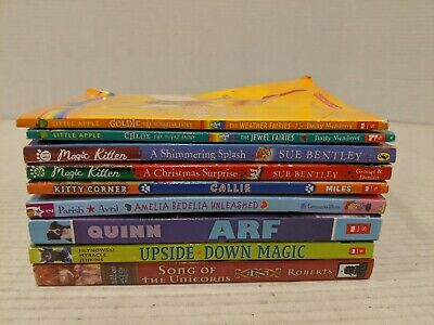Lot of 9 chapter books Children's Youth Early Readers Homeschool *Girls* Animals