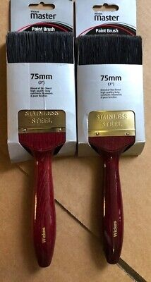 Pack of 2 Wickes Master Flat Paint Brushes