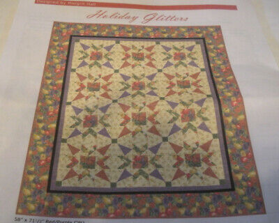Holiday Glitters quilt kit.....58 x 71.5....backing included