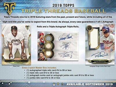 Live Break 2019 Topps Triple Threads 1 Hobby Box Break - Random Player #1