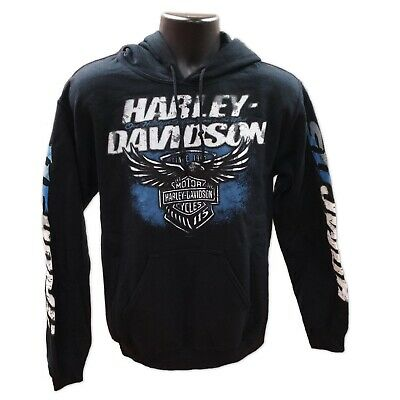 Harley-Davidson Men's 115th Anniversary Lineage Pullover Hoodie, Black