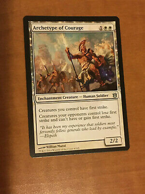 Magic the Gathering MTG 1x Archetype of Courage x 1 LP//LP 8x Available
