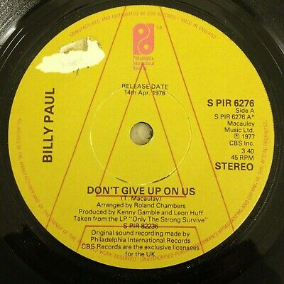 Billy Paul - Don't Give Up On Us - PIR Demo