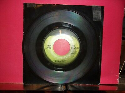 ROCK 45: The Beatles: Hey Jude / Revolution 1968 Apple VG+ VINYL