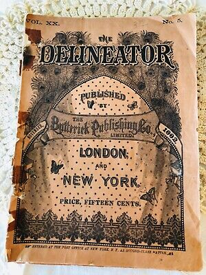 Delineator Butterick November 1882 Magazine Illustrated