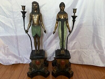 Egyptian Gods Isis and Osiris, Vintage/Antique Bronze Statue