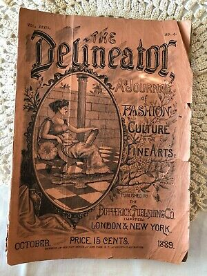 Delineator Butterick October 1889 Magazine Illustrated