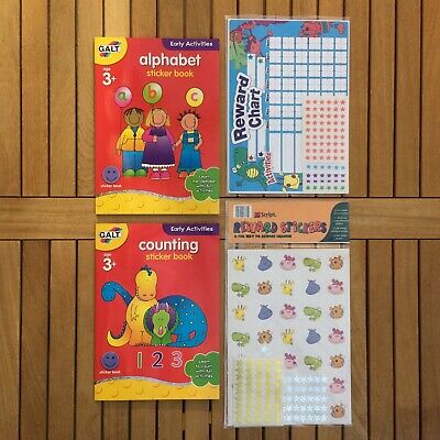 Alphabet English Counting Maths Education Books Reward Stickers Behaviour Charts