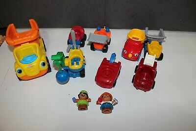 lot Fisher Price Little People construction Worker figures Trucks Tow Dozer dump