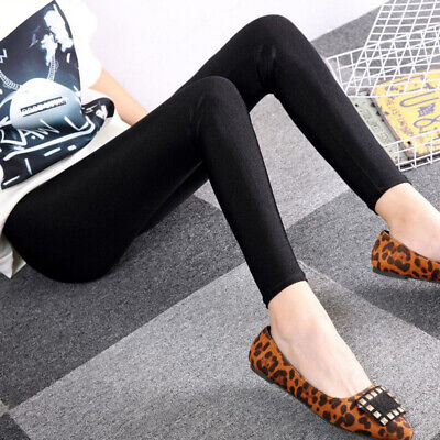 Thin Shiny Black Nylon Fashion Full Ankle Length 9 Point Tights for Women Girls