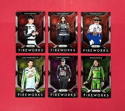 2019 Panini Prizm Racing Fireworks Insert Cards - Complete Your Set