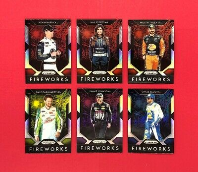 2019 Panini Prizm Racing Fireworks Prizm SP Insert Cards - Complete Your Set
