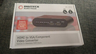 Digitech 2 x HDMI to VGA Component Video Converter w Toslink SPDIF out AC-1721
