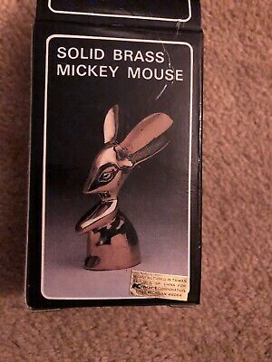 Solid Brass Mickey Mouse From Kmart