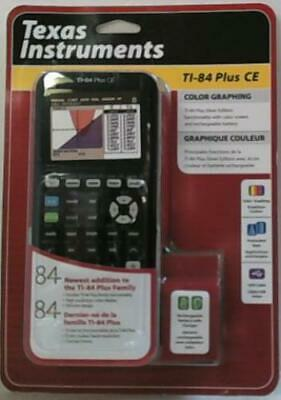 NEW Texas Instruments TI-84 Plus CE Graphing Calculator Black $150