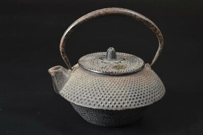 T7004: Japanese Iron Arare pattern TEA KETTLE Teapot Tetsubin Tea Ceremony