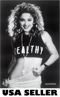 Madonna early 80s b&w POSTER 23.5 x 34 HTF (sent from USA in PVC pipe)