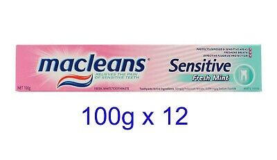 12 x MACLEANS 100g TOOTHPASTE SENSITIVE FRESH MINT - NEW