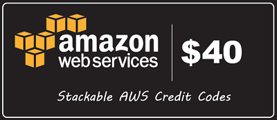 $40 AWS Amazon Web Services Credit Code Lightsail EC2