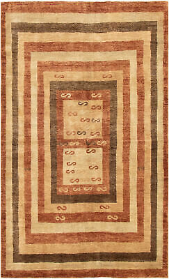 """Hand-knotted Afghan Carpet 5'0"""" x 8'3"""" Finest Ziegler Chobi Traditional Wool Rug"""