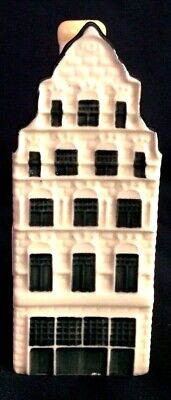 Blue Delft's CANAL HOUSE Hand Painted replica of historic home in Amsterdam. #41