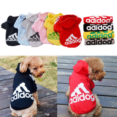 Cute Medium M Pink Adidog Hoodies For Male Small Dogs Outfits Apparel Cheap US