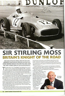 Steam Fair Souvenir Book Hand Signed By Ex Formula One Champion Stirling Moss