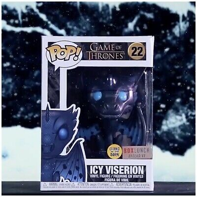 Funko Pop! Icy Viserion GITD *Boxlunch Exclusive* Game Of Thrones + Protector