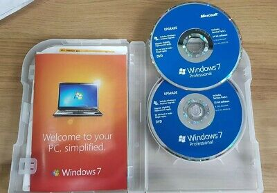 MICROSOFT WINDOWS 7 PROFESSIONAL UPGRADE FOR VISTA & XP 32 and 64-bit discs inc