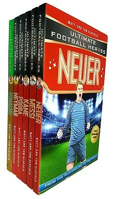 Ultimate Football heroes 6 books collection set series 3 Ronaldo Pogba Neuer New