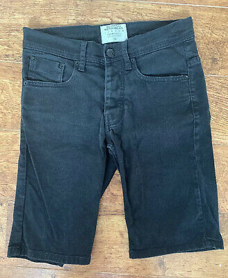 Two Pairs Of Black Mens/Boys Denim Shorts