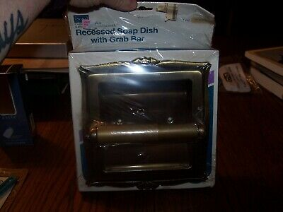 Sears Recessed Soap Dish - With Grab Bar - Vintage Chrome Plated - NOS