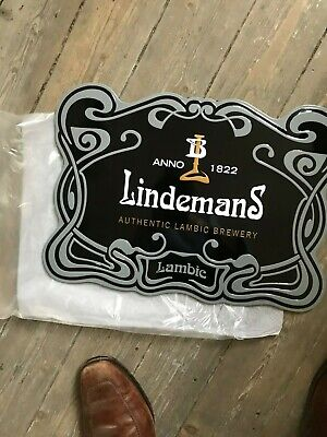 Lindemans reclame beer sign metal new in blister authentic lambic brewery