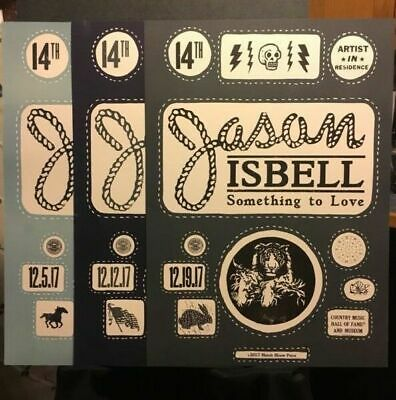 (3) Jason Isbell Nashville Country Music Hall of Fame Hatch Show Print Program