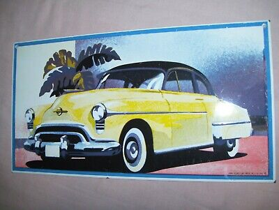 Old Porcelain Enameled Steel Sign Buick Plymouth Car USA Made Ande Rooney 1988