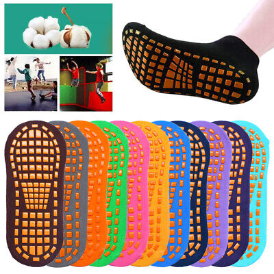 1 Pairs of Kids Boys Girls Gripper Trainer Socks Sports Liners Trampoline