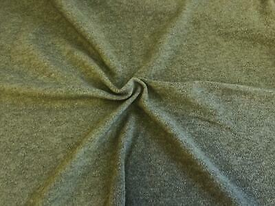 CLEARANCE JERSEY Polar Fleece Fabric Material - LOVAT