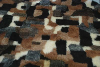 LUXURY Faux Fur Fabric Material - PATCHWORK
