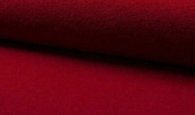 Luxury 100% Boiled Wool Fabric Material – RED