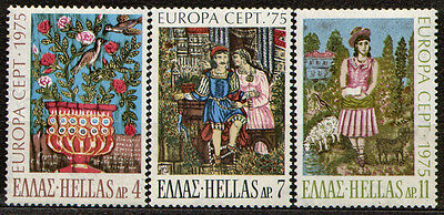 Greece 1975 Mi 1198-1200 EUROPA (C.E.P.T.) 1975 - Works of Art: Painting - MNH